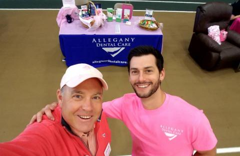 Dr. Carella at Step 'N Stride to support Breast Cancer Awareness-Cumberland Valley
